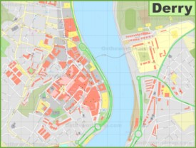 Derry city center map