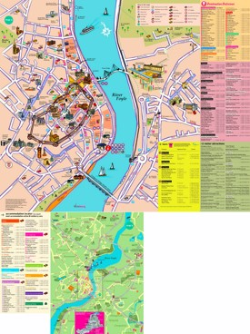 Derry hotels and sightseeings map