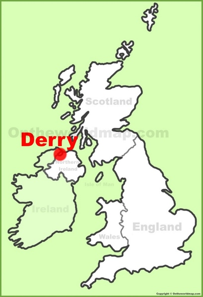 Derry Location Map