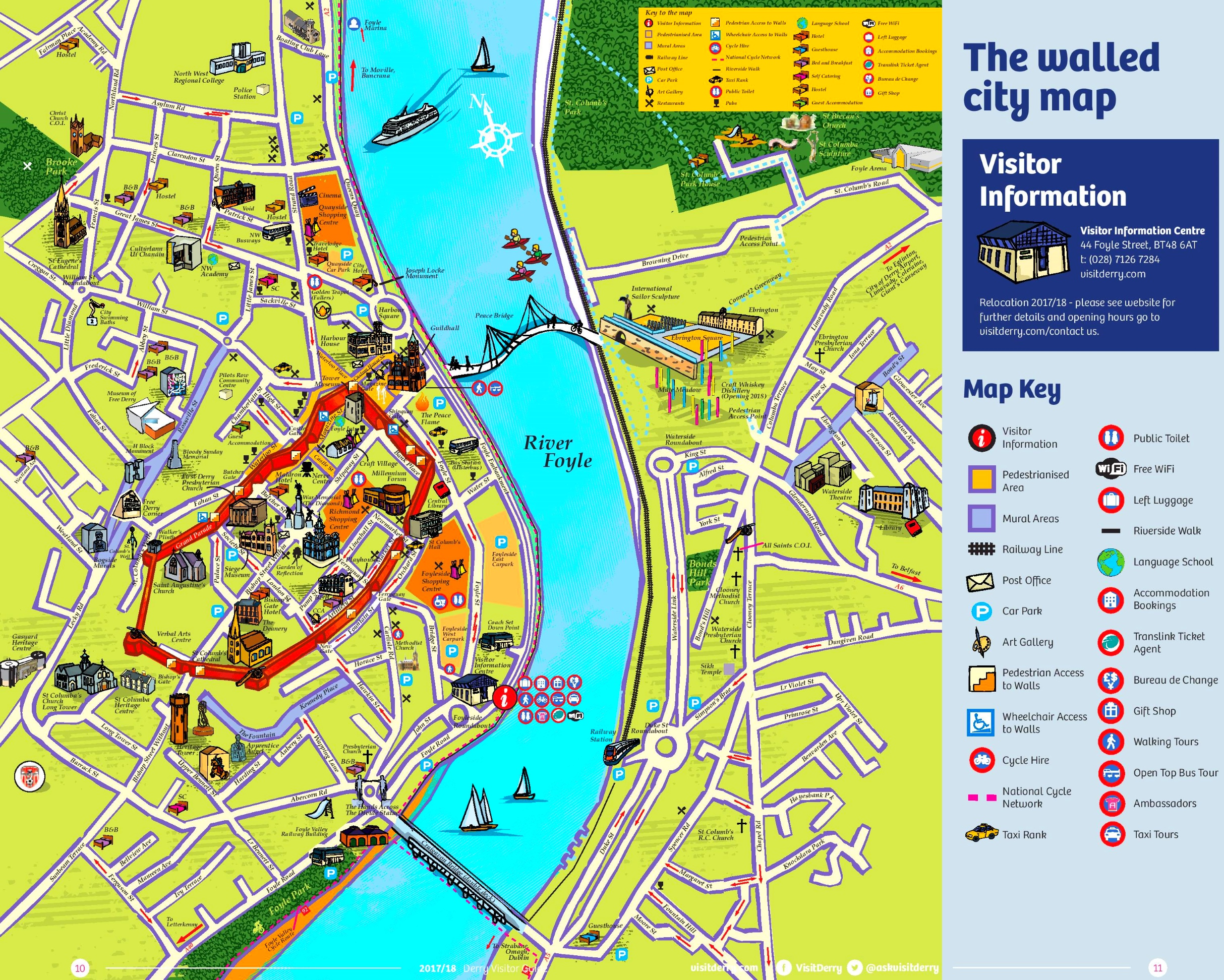 Derry tourist map
