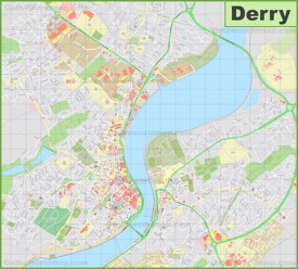 Detailed map of Derry