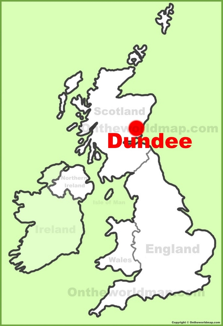 Dundee location on the UK Map