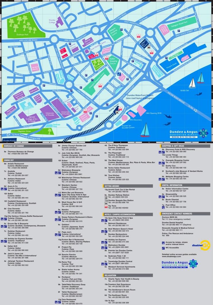 Dundee tourist map