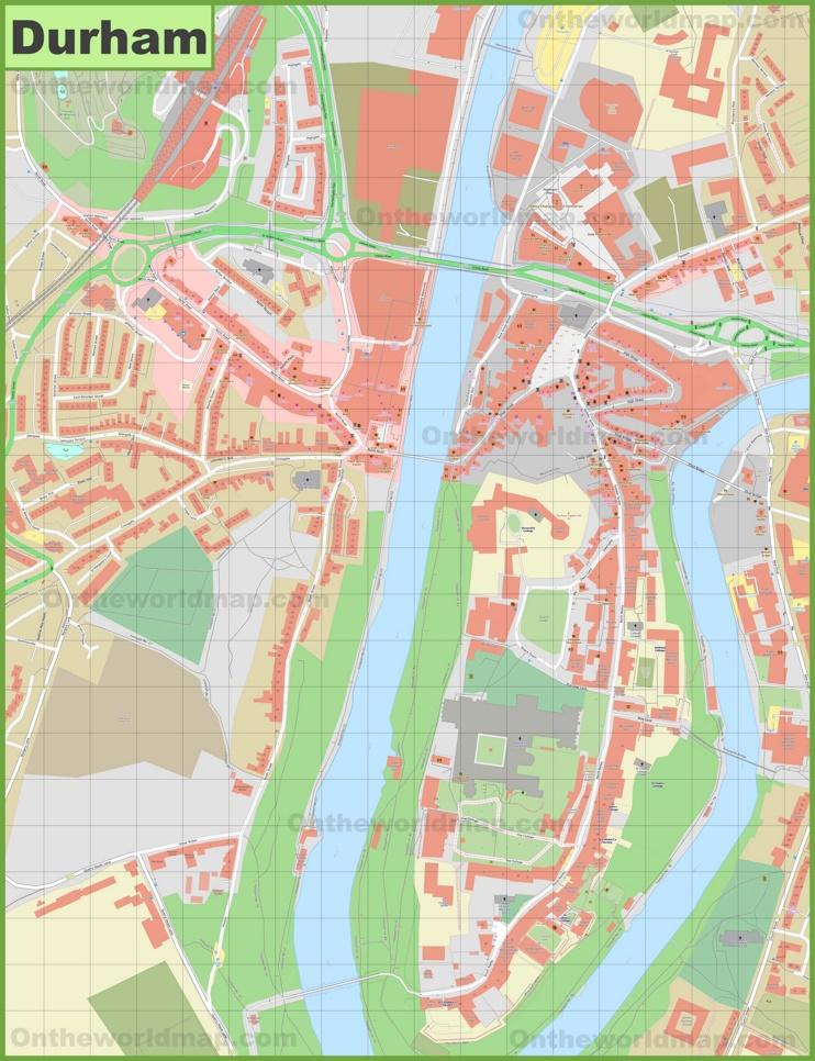 Durham city center map