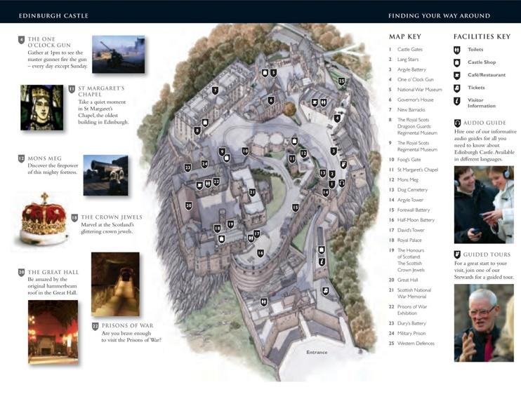 Edinburgh Castle map
