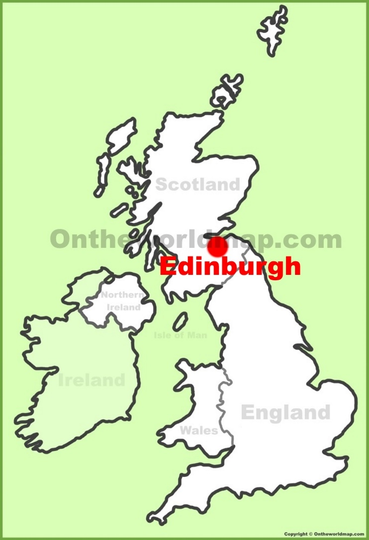 Edinburgh location on the UK Map