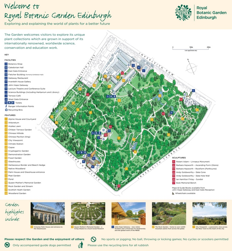 Edinburgh Royal Botanic Garden map