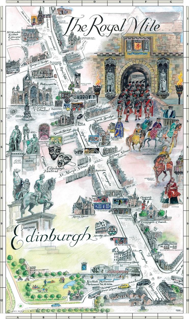 Edinburgh Royal Mile map