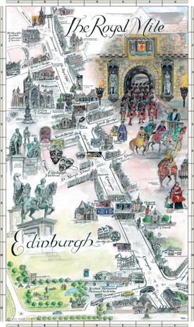 Edinburgh Royal Mile map