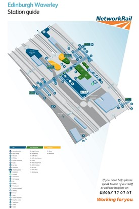Edinburgh Waverley railway station map