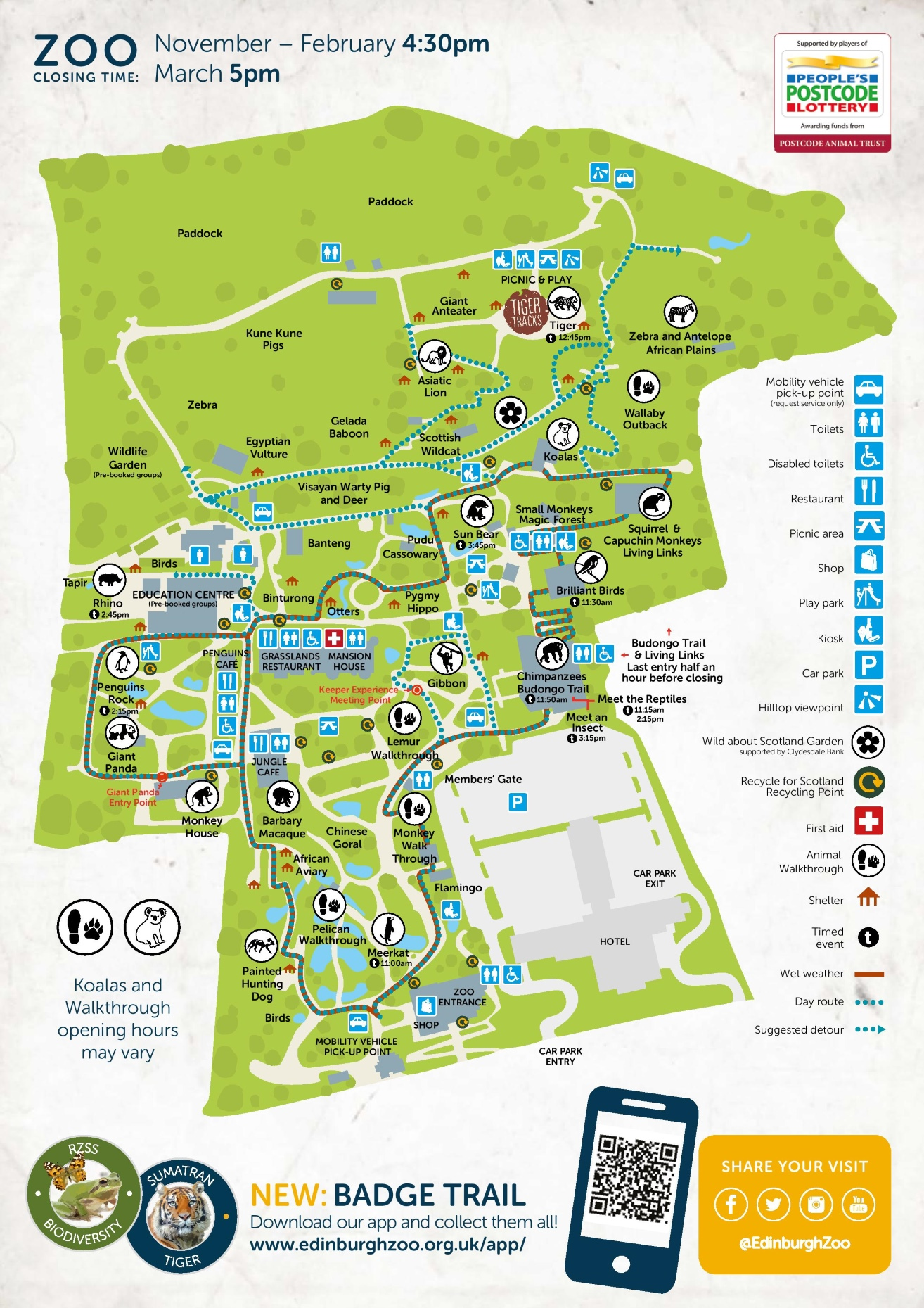 Edinburgh Zoo map