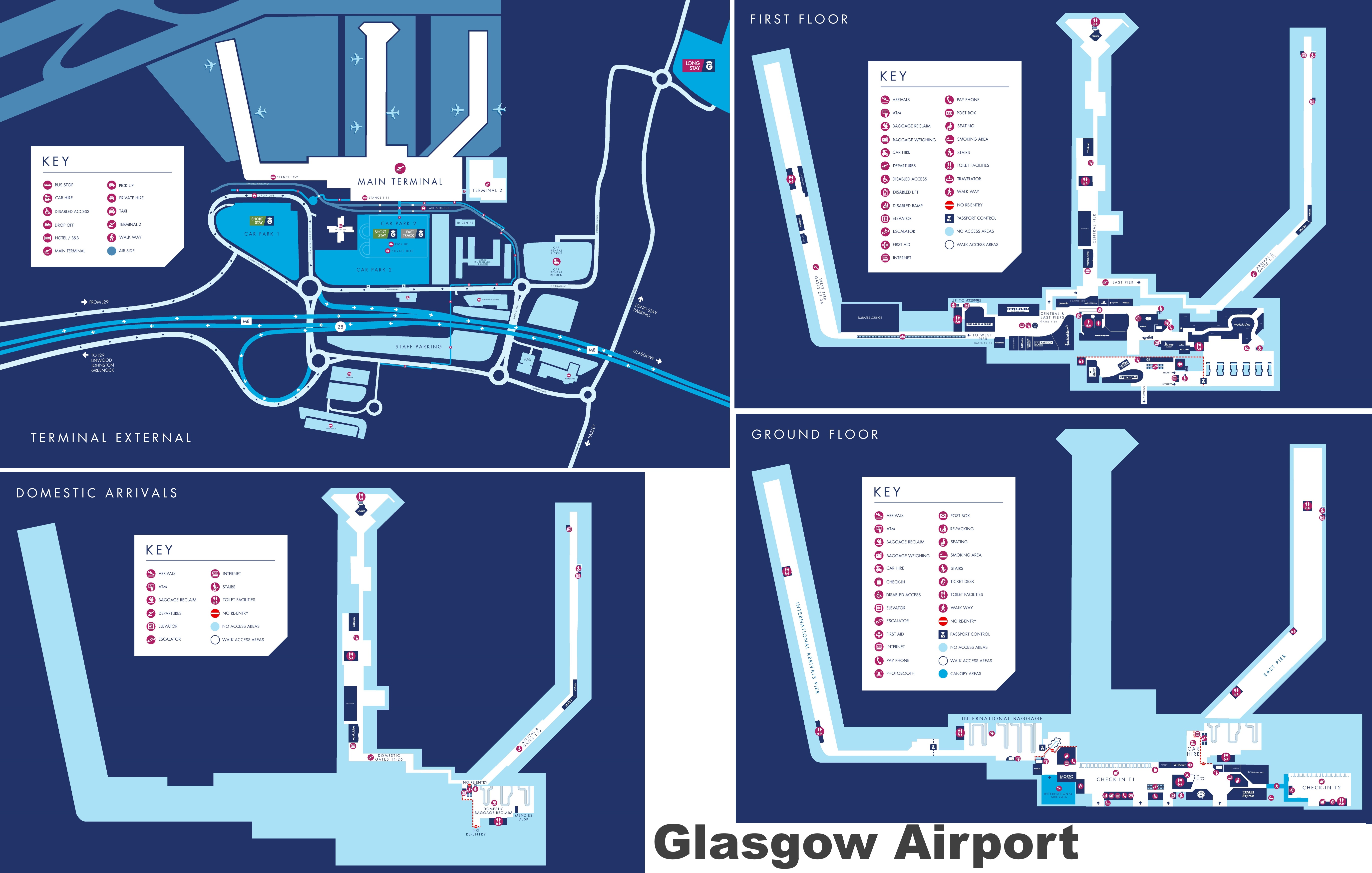 Newcastle Airport Hotels Map