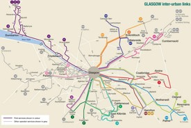 Glasgow area bus map