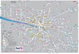 Glasgow bus map