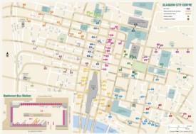 Glasgow city center map