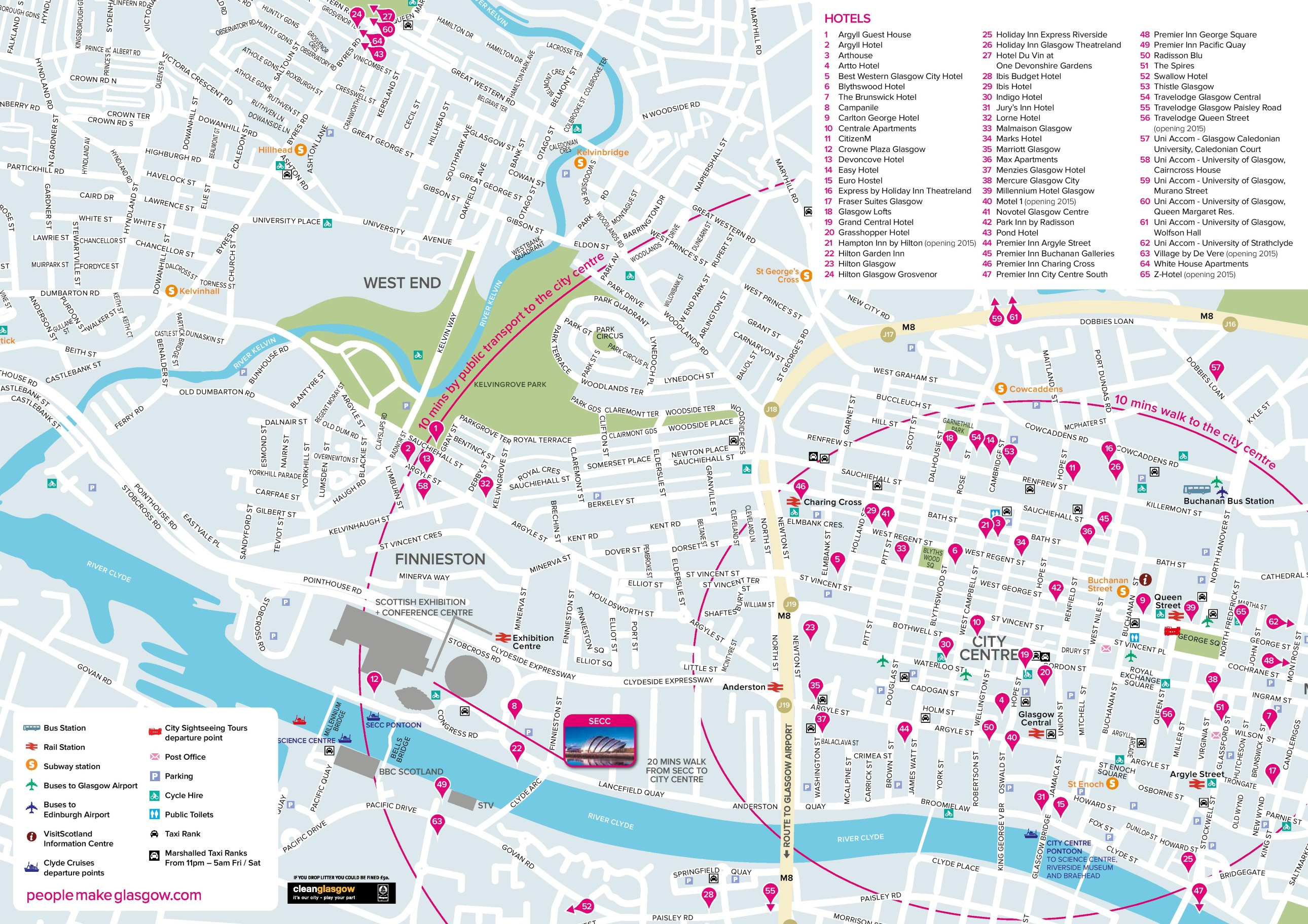 Glasgow Maps UK Maps of Glasgow