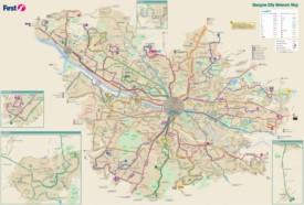 Glasgow transport map