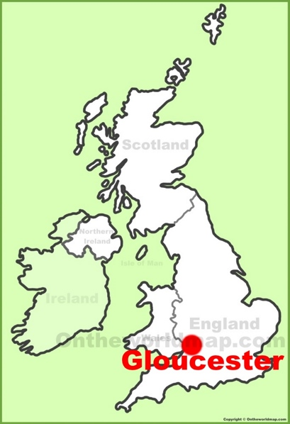 Map Of England Gloucestershire.Gloucester Maps Uk Maps Of Gloucester