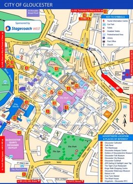 Gloucester tourist map