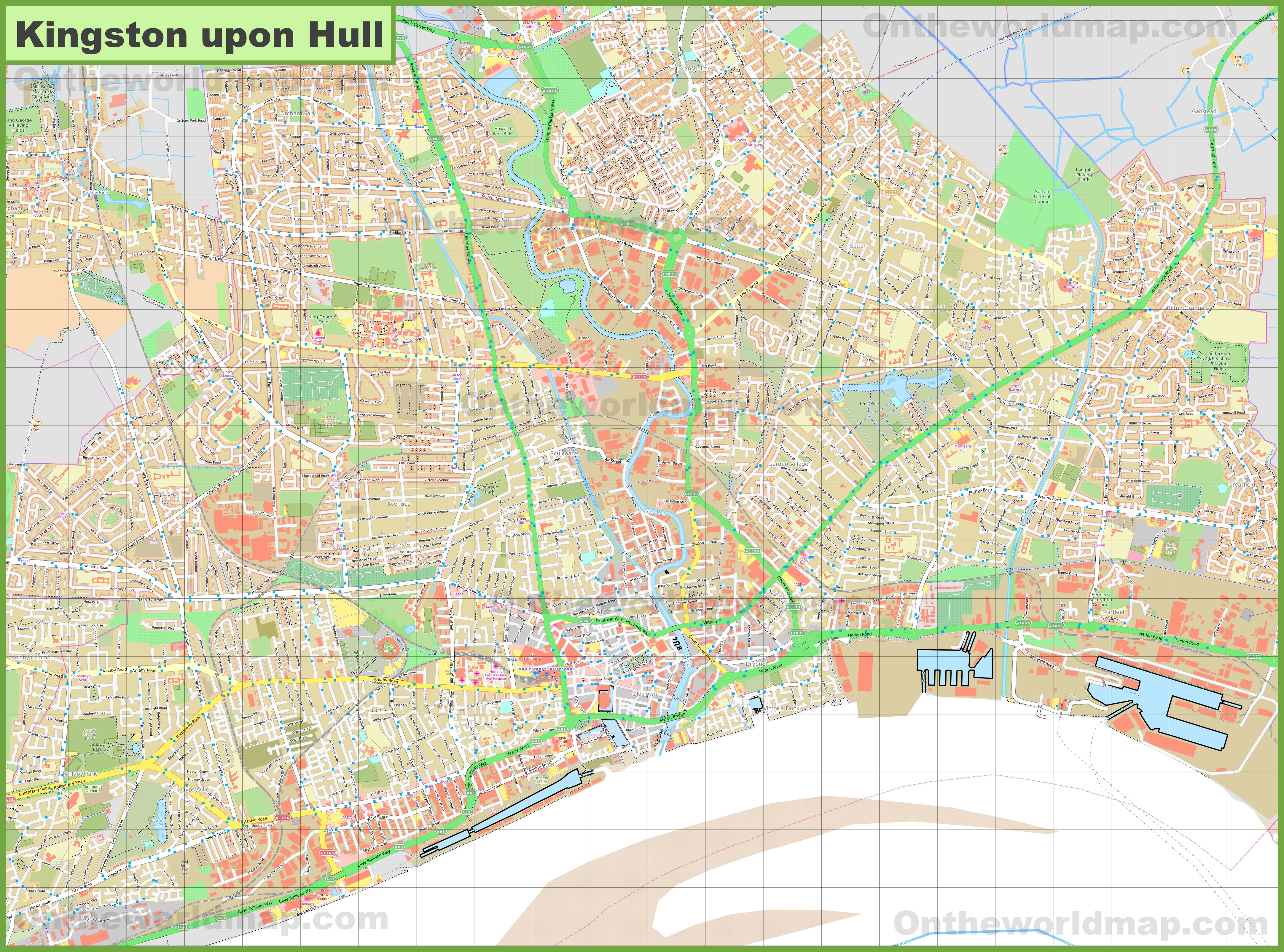 Map Of Uk Hull.Detailed Map Of Hull