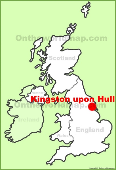 Hull Location Map