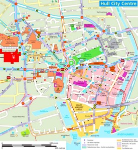 Hull tourist map