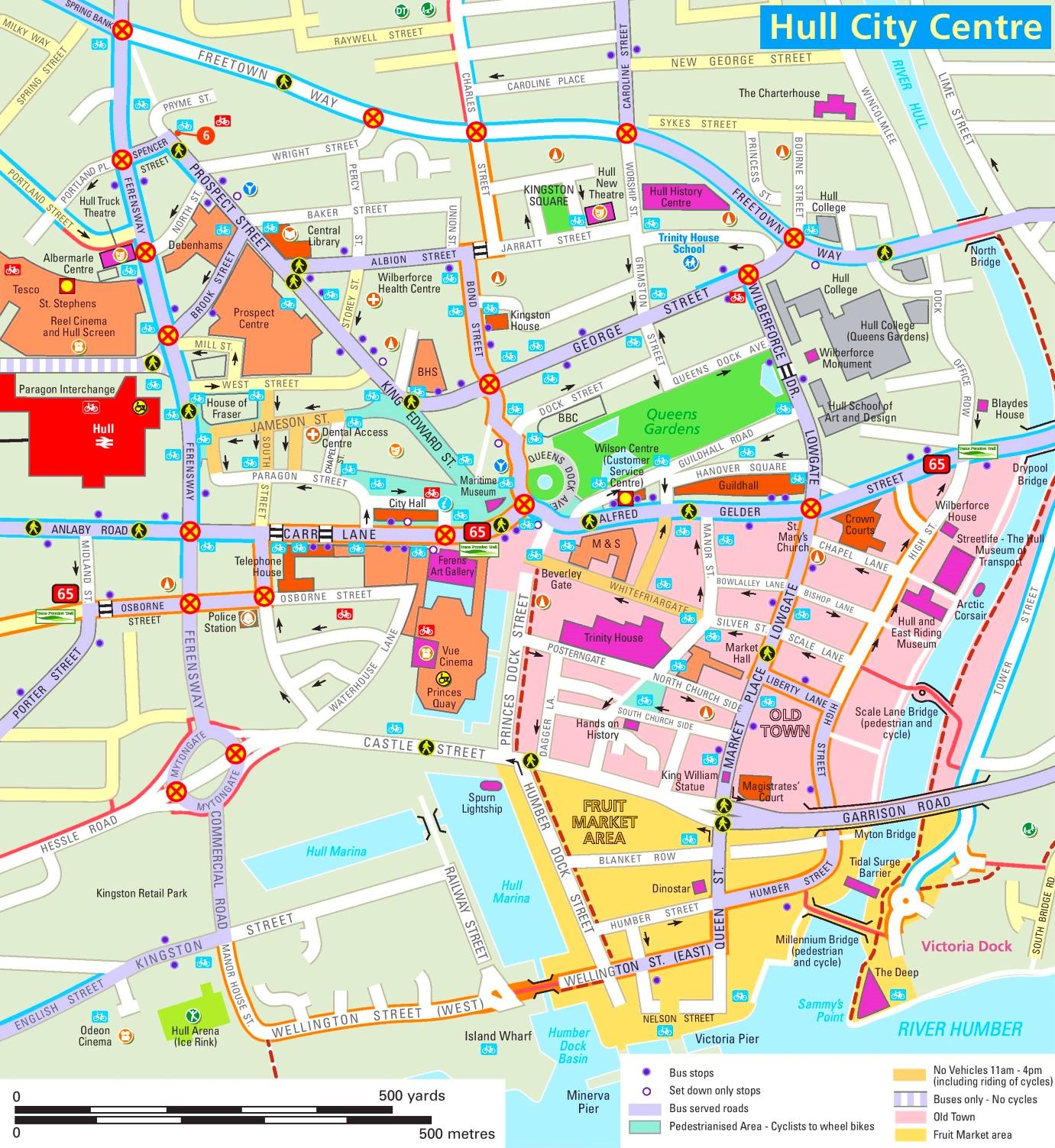 Hull tourist map