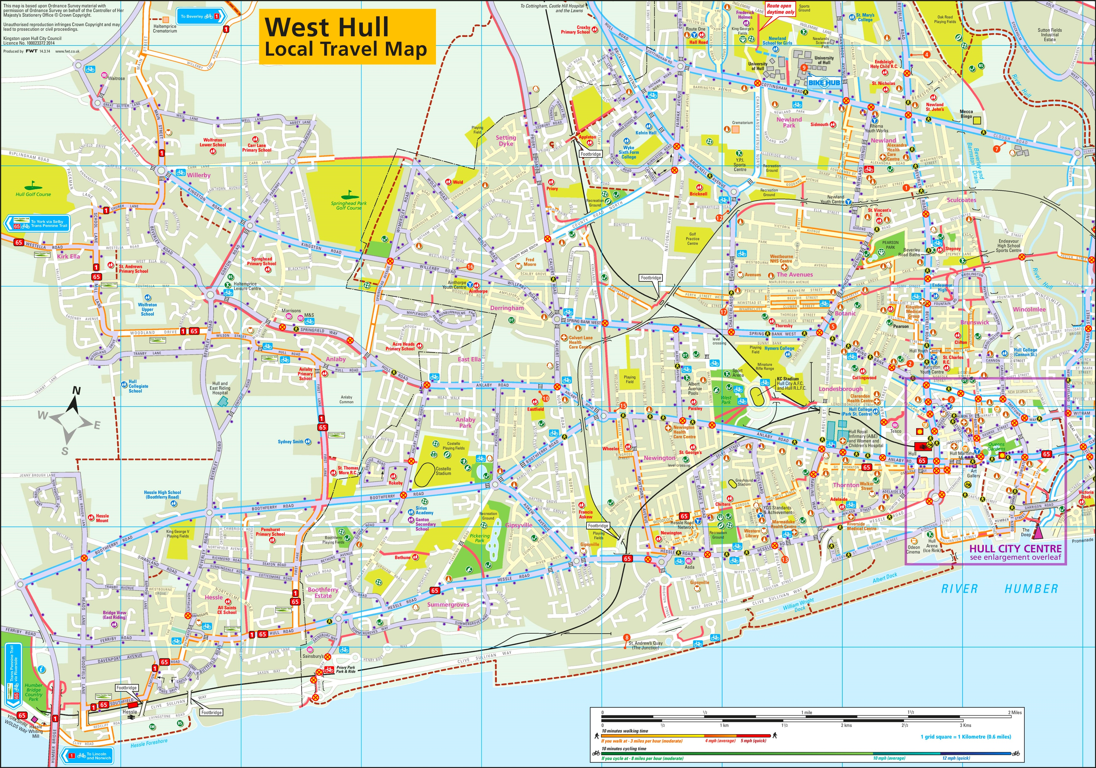 Map Of Uk Hull.West Hull Travel Map