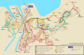 Inverness bus map