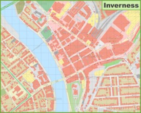 Inverness city center map
