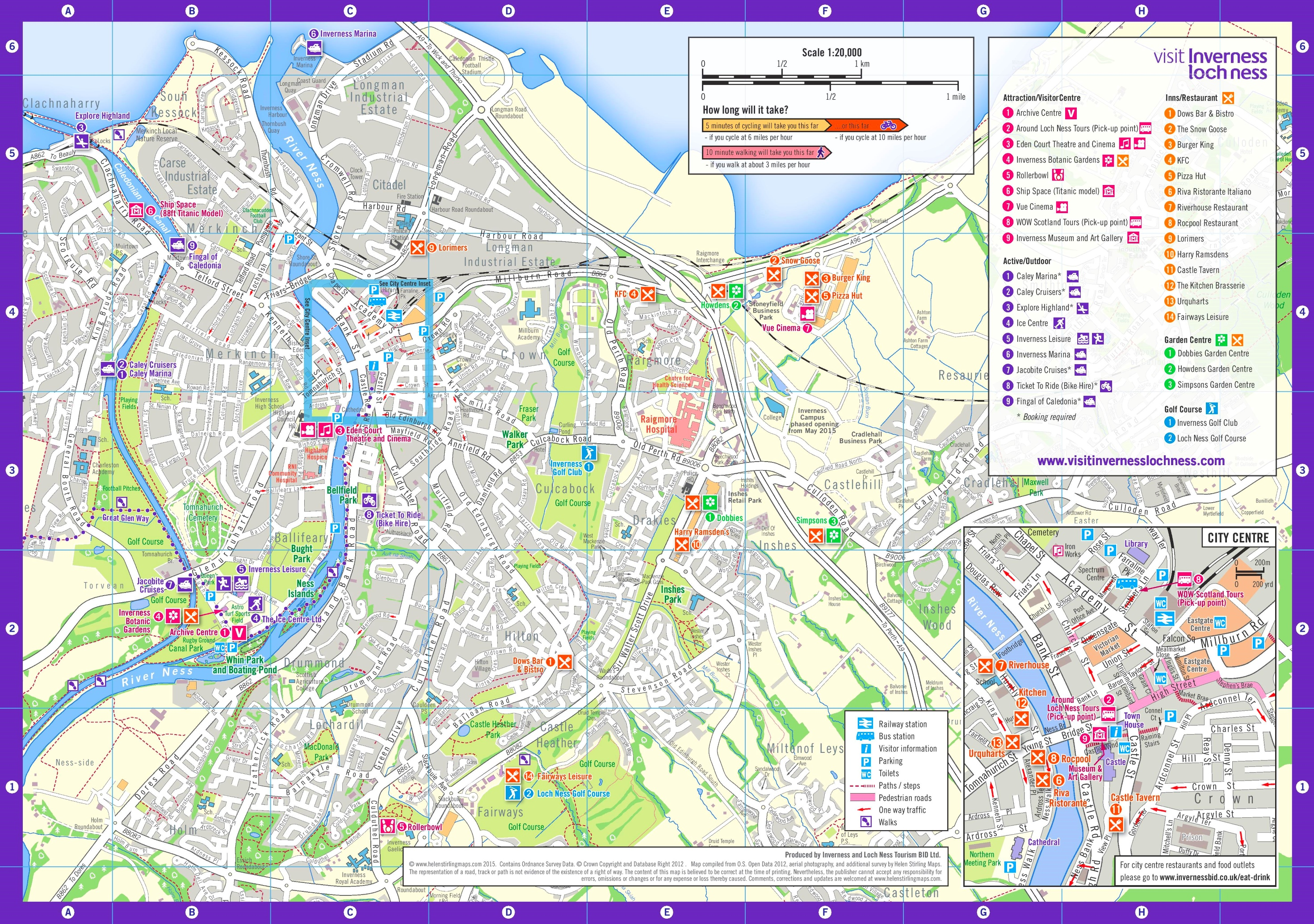 Map Of Inverness Inverness sightseeing map