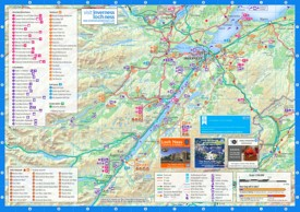 Loch Ness and Inverness area tourist map
