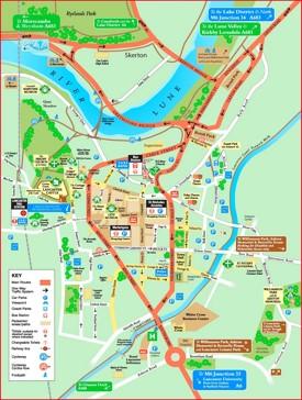Lancaster tourist map
