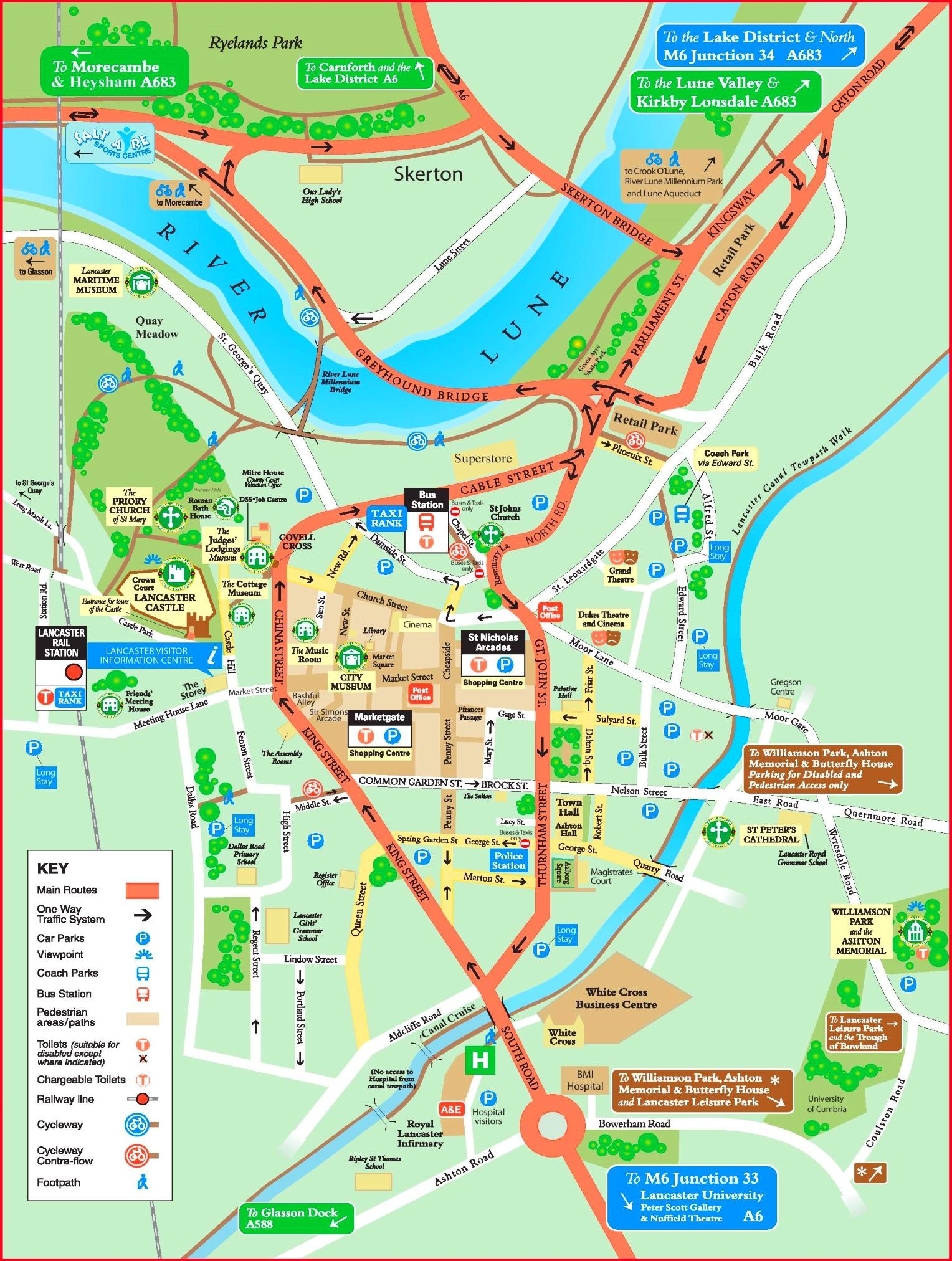 Lancaster Maps UK Maps of Lancaster