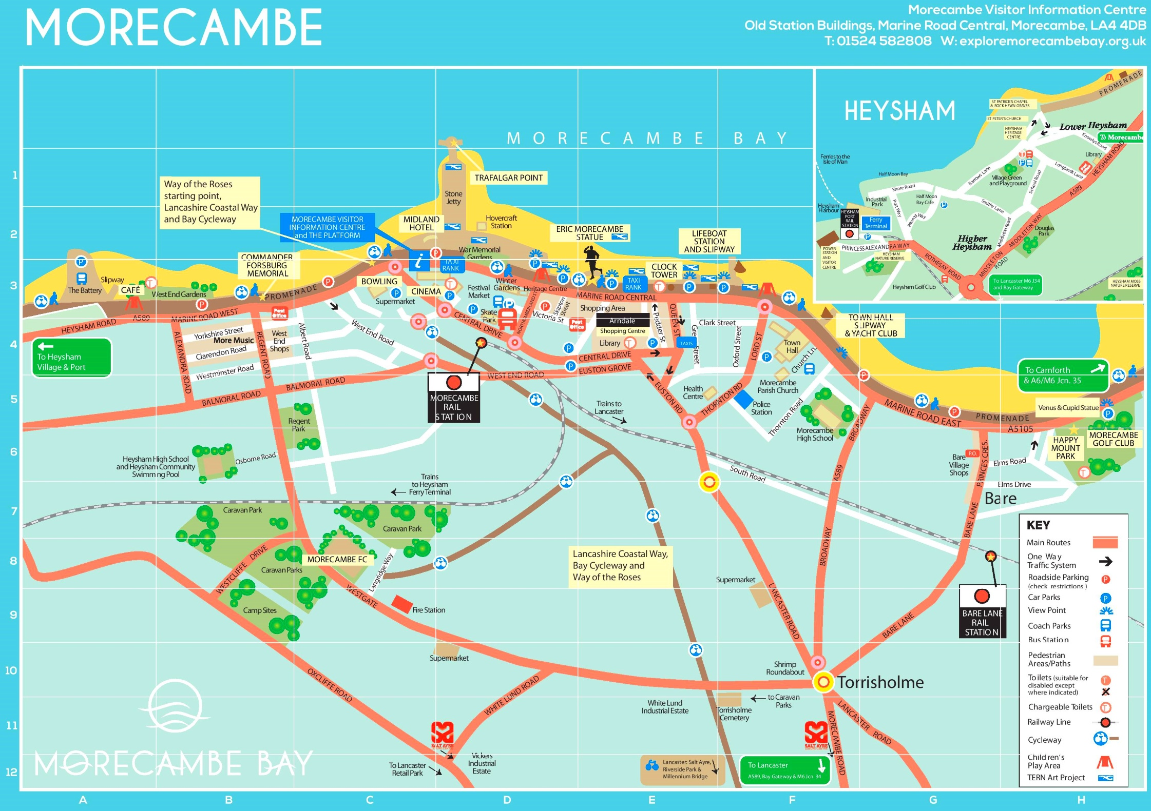 Morecambe tourist map