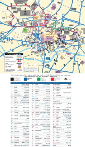 Leeds city center map