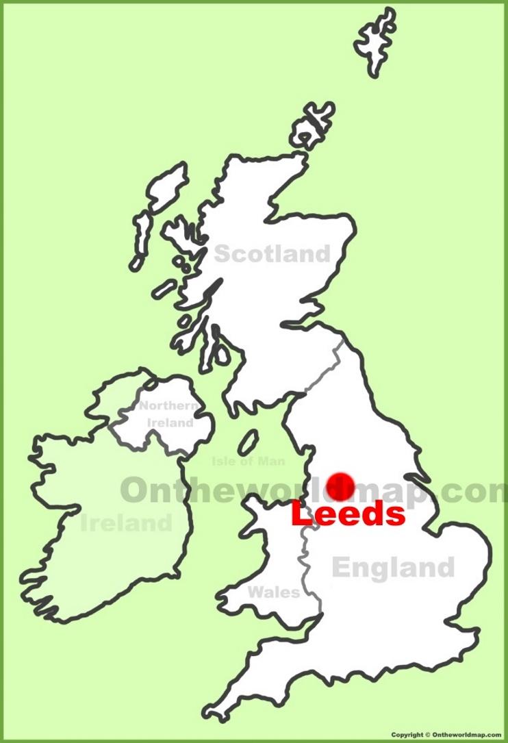 Leeds On Map Leeds Maps   UK   Maps of Leeds