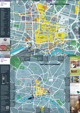 Leeds tourist map