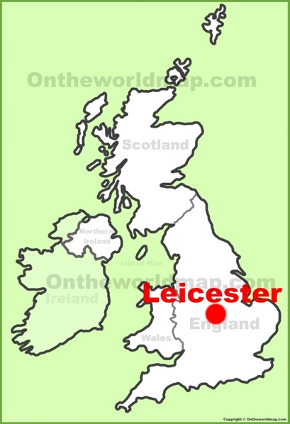 Leicester Location Map