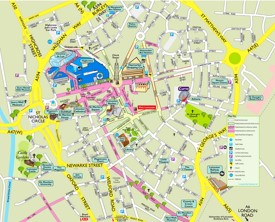 Leicester tourist attractions map