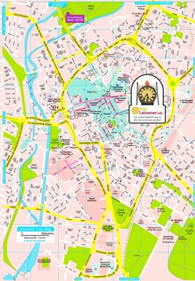 Leicester tourist map