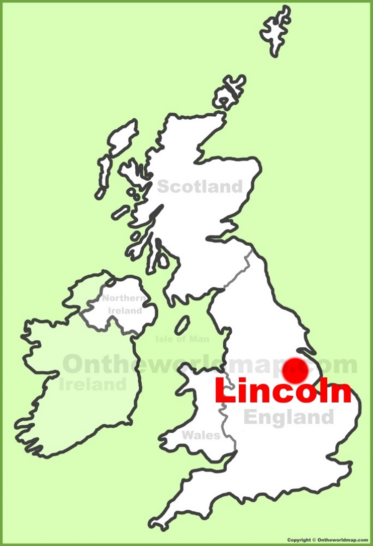 Lincoln location on the UK Map
