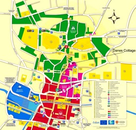 Lincoln tourist map