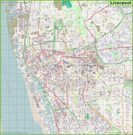 Large detailed map of Liverpool