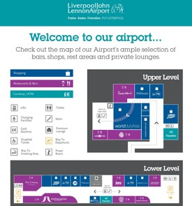 Liverpool airport map