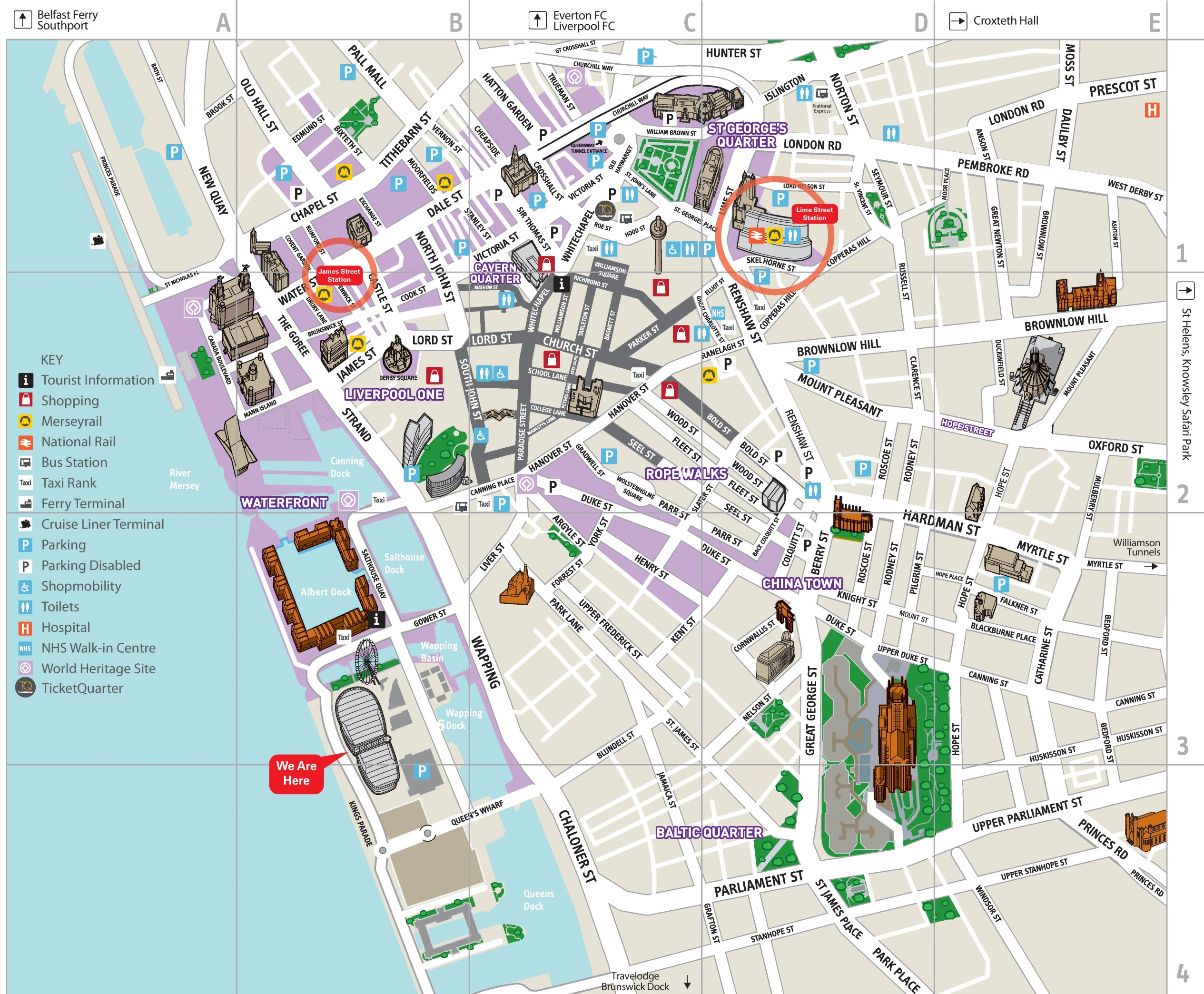 Liverpool City Map Liverpool city center map Liverpool City Map