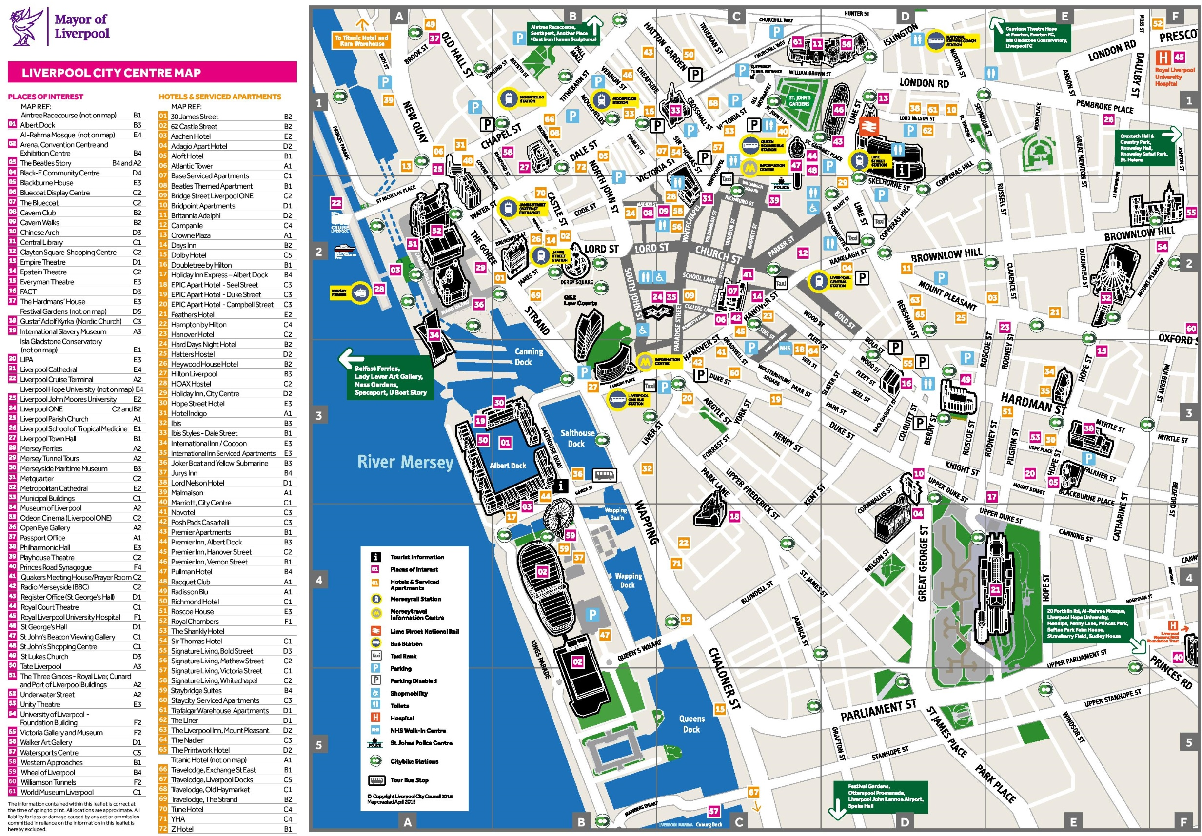 Liverpool University Map Liverpool hotel map Liverpool University Map