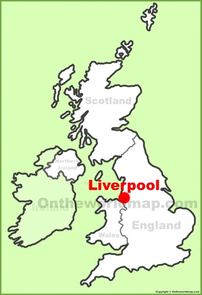Liverpool Location Map