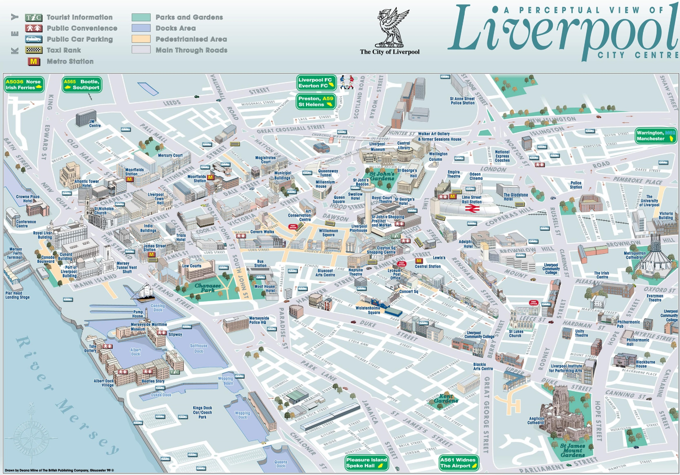 Liverpool Tourist Map Liverpool sightseeing map Liverpool Tourist Map