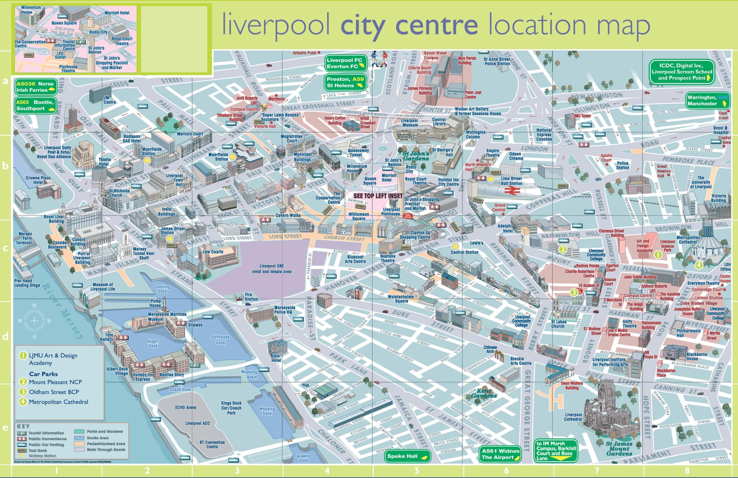 Liverpool Tourist Map Liverpool tourist map Liverpool Tourist Map